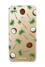 FOONCASE Huawei P8 Lite 2017 hoesje TPU Soft Case - Back Cover - Coco Paradise / Kokosnoot / Palmboom