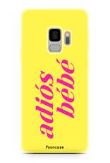 FOONCASE Samsung Galaxy S9 hoesje TPU Soft Case - Back Cover - Adiós Bébé ☀ / Geel & Roze