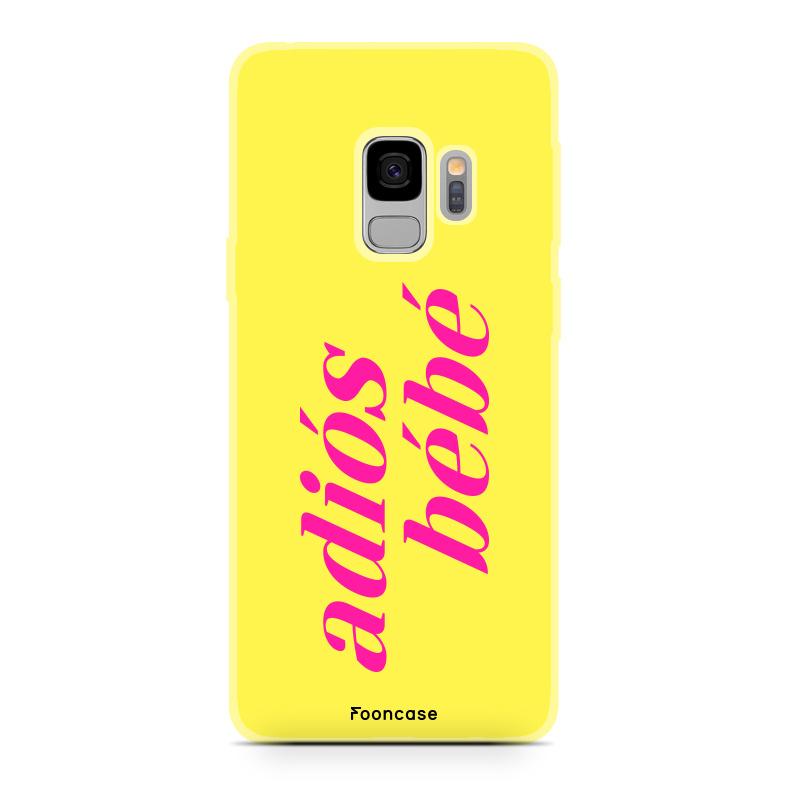 FOONCASE Samsung Galaxy S9 Handyhülle - Adiós Bébé ☀