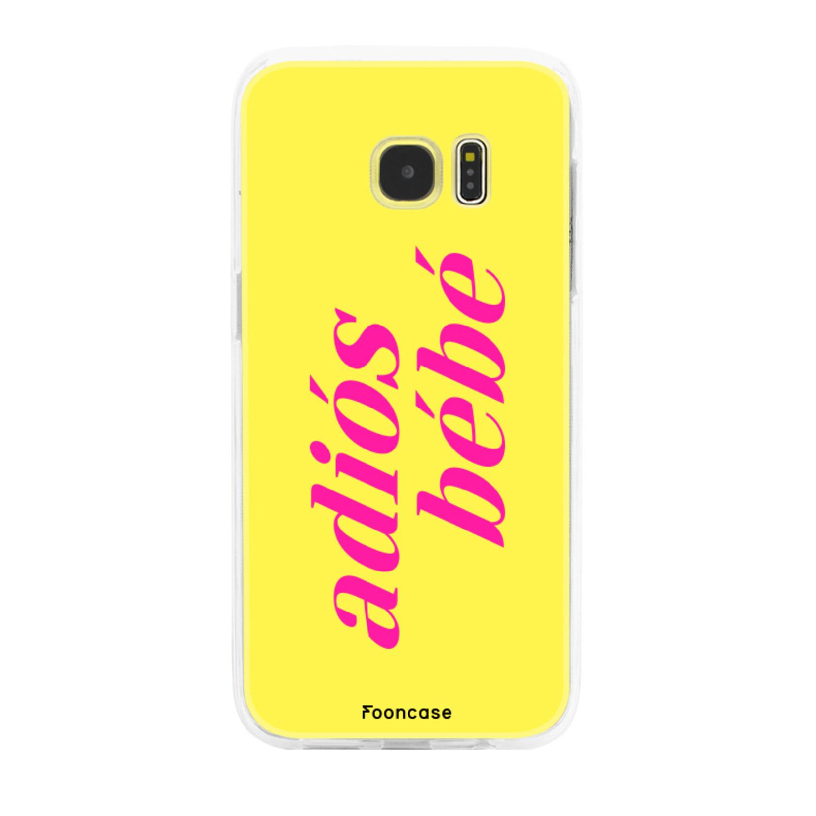 FOONCASE Samsung Galaxy S7 Edge Handyhülle - Adiós Bébé ☀