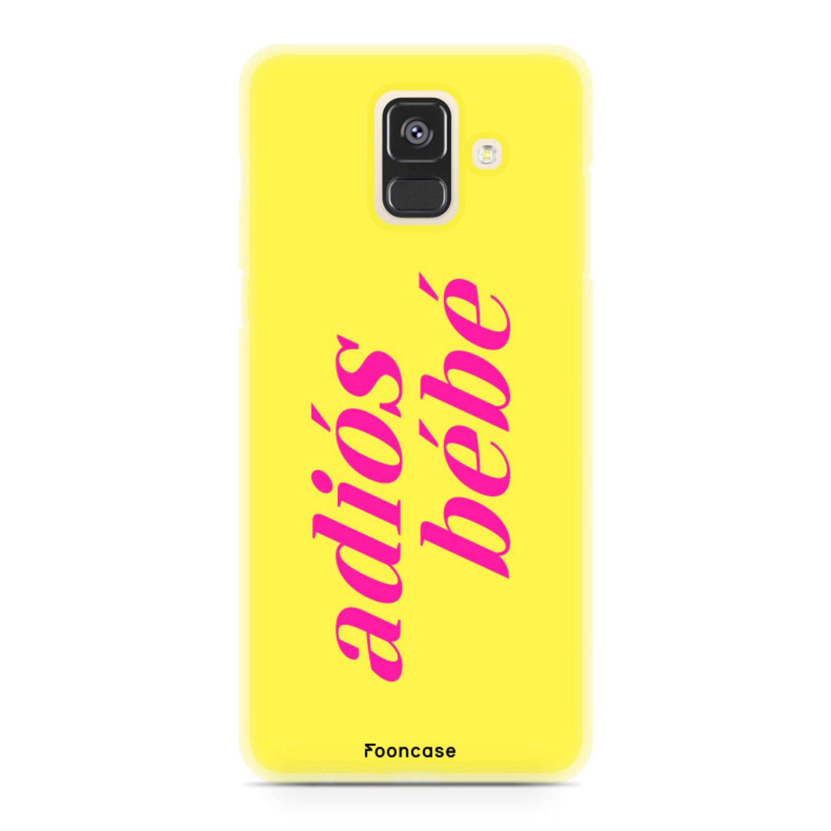 FOONCASE Samsung Galaxy A6 2018 Handyhülle - Adiós Bébé ☀