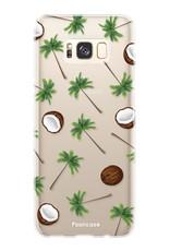 FOONCASE Samsung Galaxy S8 hoesje TPU Soft Case - Back Cover - Coco Paradise / Kokosnoot / Palmboom