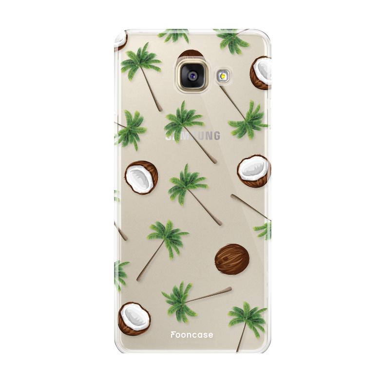 FOONCASE Samsung Galaxy A5 2017 hoesje TPU Soft Case - Back Cover - Coco Paradise / Kokosnoot / Palmboom