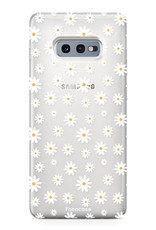 FOONCASE Samsung Galaxy S10e hoesje TPU Soft Case - Back Cover - Madeliefjes