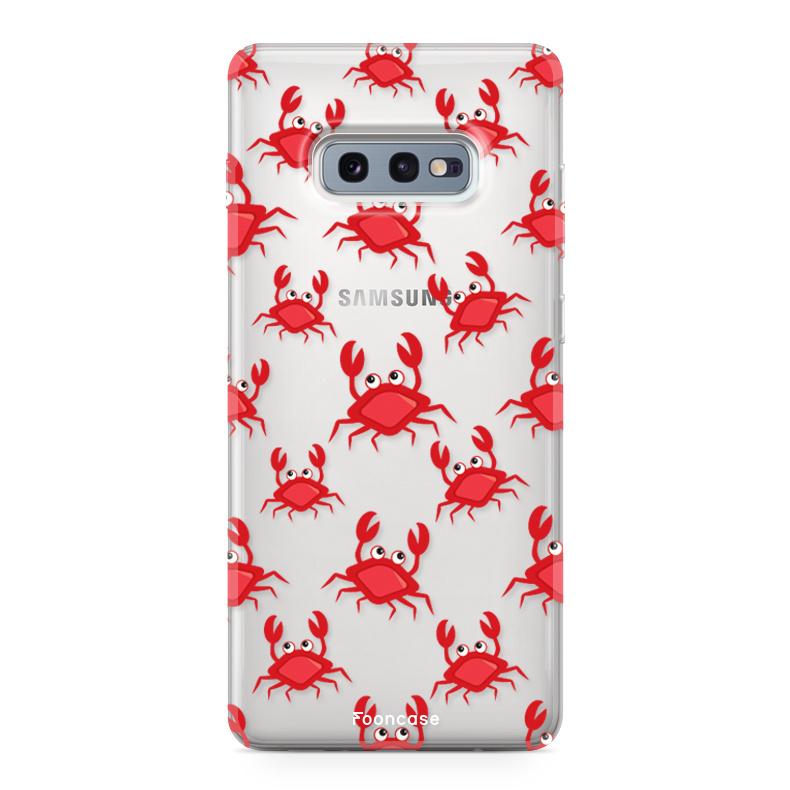 FOONCASE Samsung Galaxy S10e hoesje TPU Soft Case - Back Cover - Crabs / Krabbetjes / Krabben