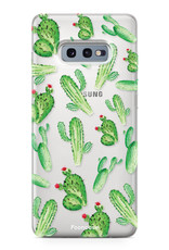 FOONCASE Samsung Galaxy S10e hoesje TPU Soft Case - Back Cover - Cactus