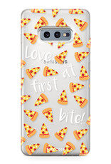 FOONCASE Samsung Galaxy S10e hoesje TPU Soft Case - Back Cover - Pizza / Food