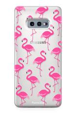FOONCASE Samsung Galaxy S10e hoesje TPU Soft Case - Back Cover - Flamingo