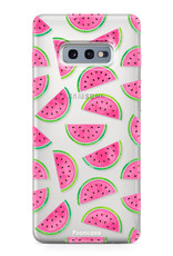 FOONCASE Samsung Galaxy S10e hoesje TPU Soft Case - Back Cover - Watermeloen