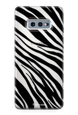 FOONCASE Samsung Galaxy S10e hoesje TPU Soft Case - Back Cover - Zebra print