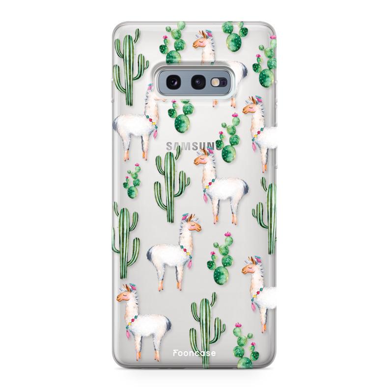 FOONCASE Samsung Galaxy S10e hoesje TPU Soft Case - Back Cover - Alpaca / Lama