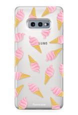 FOONCASE Samsung Galaxy S10e hoesje TPU Soft Case - Back Cover - Ice Ice Baby / Ijsjes / Roze ijsjes