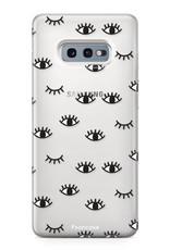 FOONCASE Samsung Galaxy S10e hoesje TPU Soft Case - Back Cover - Eyes / Ogen