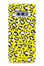 FOONCASE Samsung Galaxy S10e hoesje TPU Soft Case - Back Cover - WILD COLLECTION / Luipaard / Leopard print / Geel