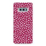 FOONCASE Samsung Galaxy S10e - POLKA COLLECTION / Rood