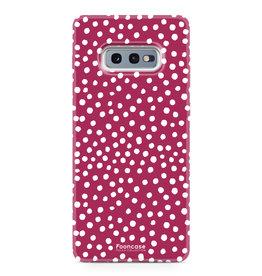 FOONCASE Samsung Galaxy S10e - POLKA COLLECTION / Rosso