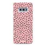 FOONCASE Samsung Galaxy S10e - POLKA COLLECTION / Roze
