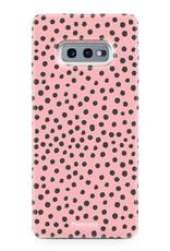 FOONCASE Samsung Galaxy S10e - POLKA COLLECTION / Rosa