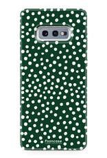 Samsung Samsung Galaxy S10e - POLKA COLLECTION / Donker Groen