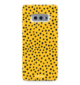 FOONCASE Samsung Galaxy S10e - POLKA COLLECTION / Giallo ocra