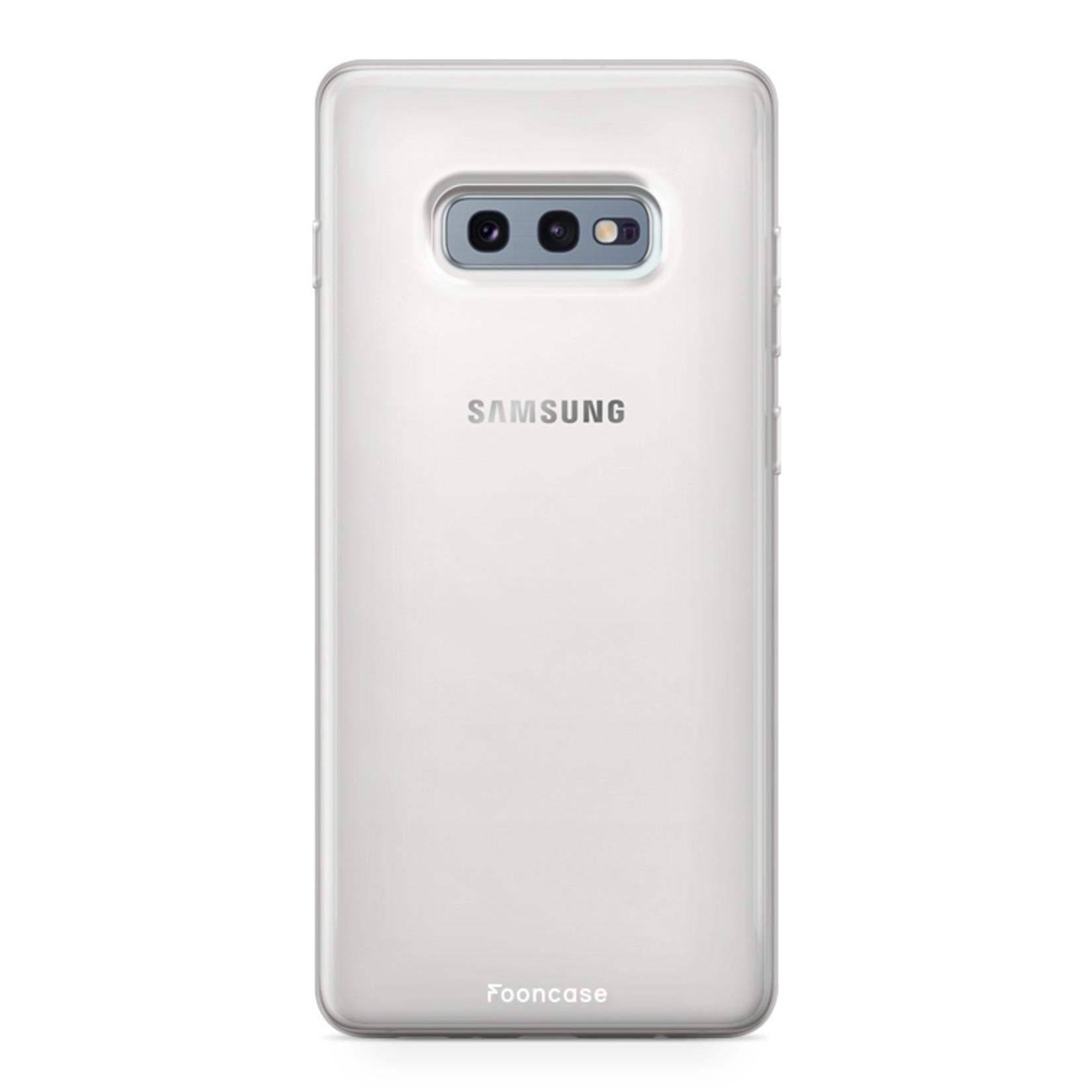 FOONCASE Samsung Galaxy S10e hoesje TPU Soft Case - Back Cover - Transparant / Doorzichtig