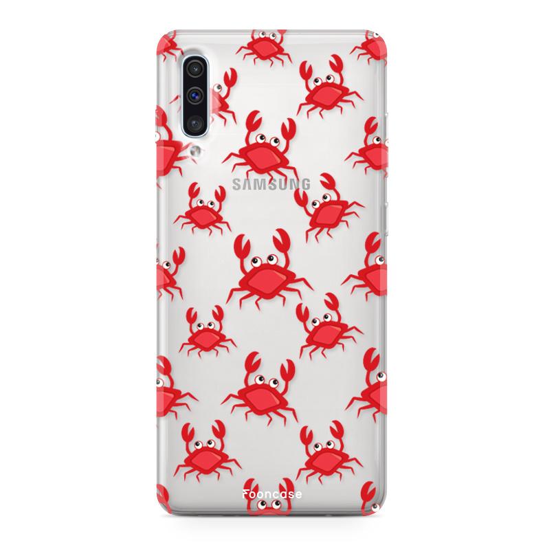 FOONCASE Samsung Galaxy A50 hoesje TPU Soft Case - Back Cover - Crabs / Krabbetjes / Krabben