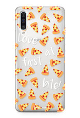 FOONCASE Samsung Galaxy A50 hoesje TPU Soft Case - Back Cover - Pizza / Food
