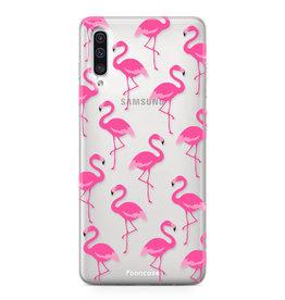 FOONCASE Samsung Galaxy A50 - Flamingo