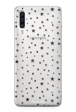FOONCASE Samsung Galaxy A50 hoesje TPU Soft Case - Back Cover -  Stars / Sterretjes