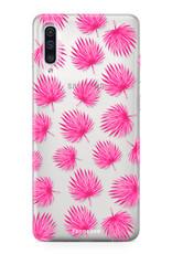 FOONCASE Samsung Galaxy A50 Handyhülle - Rosa Blätter