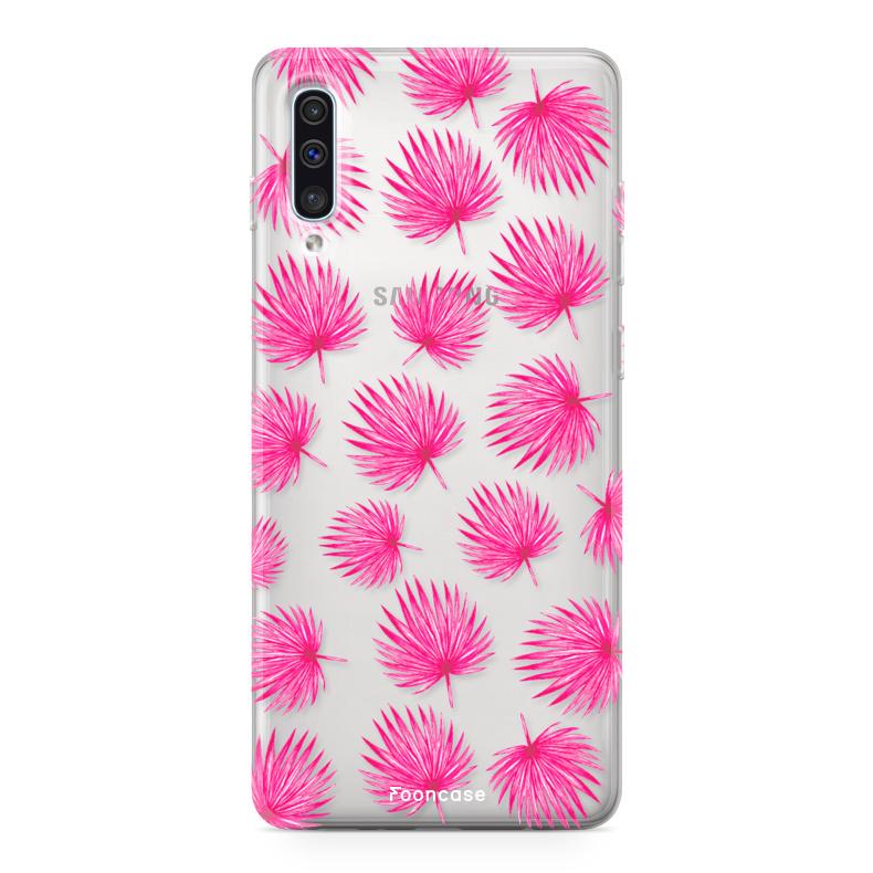Samsung Samsung Galaxy A50 Handyhülle - Rosa Blätter