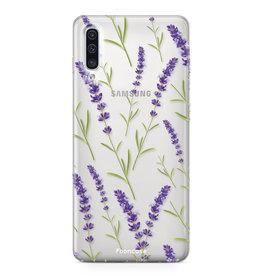FOONCASE Samsung Galaxy A50 - Purple Flower