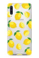 FOONCASE Samsung Galaxy A50 hoesje TPU Soft Case - Back Cover - Lemons / Citroen / Citroentjes
