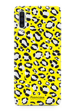 FOONCASE Samsung Galaxy A50 hoesje TPU Soft Case - Back Cover - WILD COLLECTION / Luipaard / Leopard print / Geel