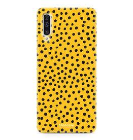 FOONCASE Samsung Galaxy A50 - POLKA COLLECTION / Ocher Yellow