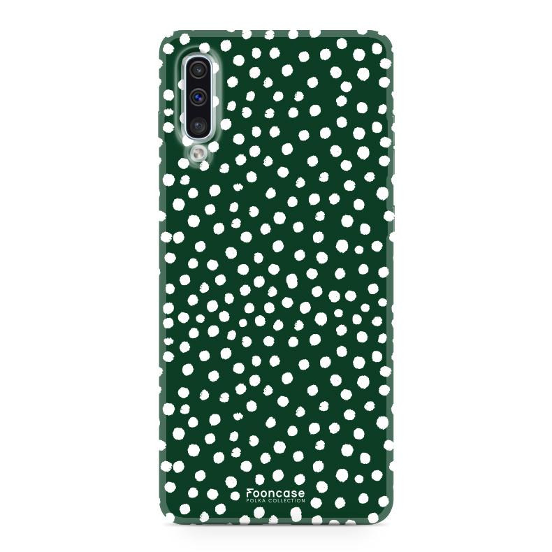Samsung Samsung Galaxy A50 - POLKA COLLECTION / Donker Groen