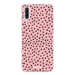 FOONCASE Samsung Galaxy A50 - POLKA COLLECTION / Pink
