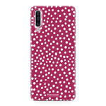FOONCASE Samsung Galaxy A50 - POLKA COLLECTION / Rood