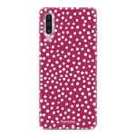 FOONCASE Samsung Galaxy A50 - POLKA COLLECTION / Rot