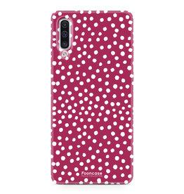 FOONCASE Samsung Galaxy A50 - POLKA COLLECTION / Rosso