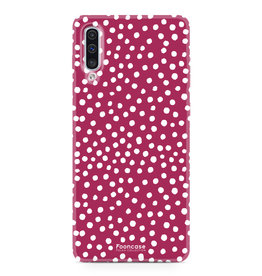 FOONCASE Samsung Galaxy A50 - POLKA COLLECTION / Rot