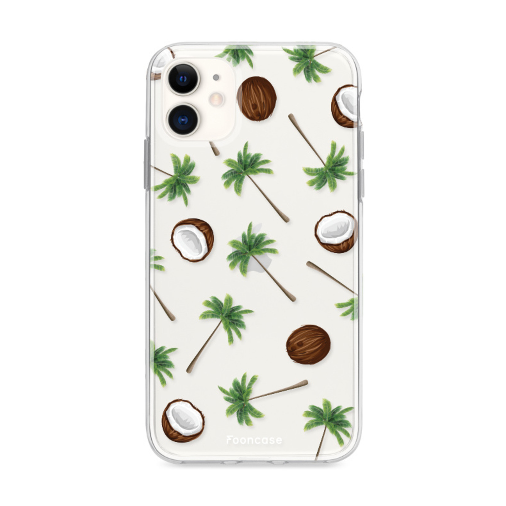 FOONCASE iPhone 11 hoesje TPU Soft Case - Back Cover - Coco Paradise / Kokosnoot / Palmboom