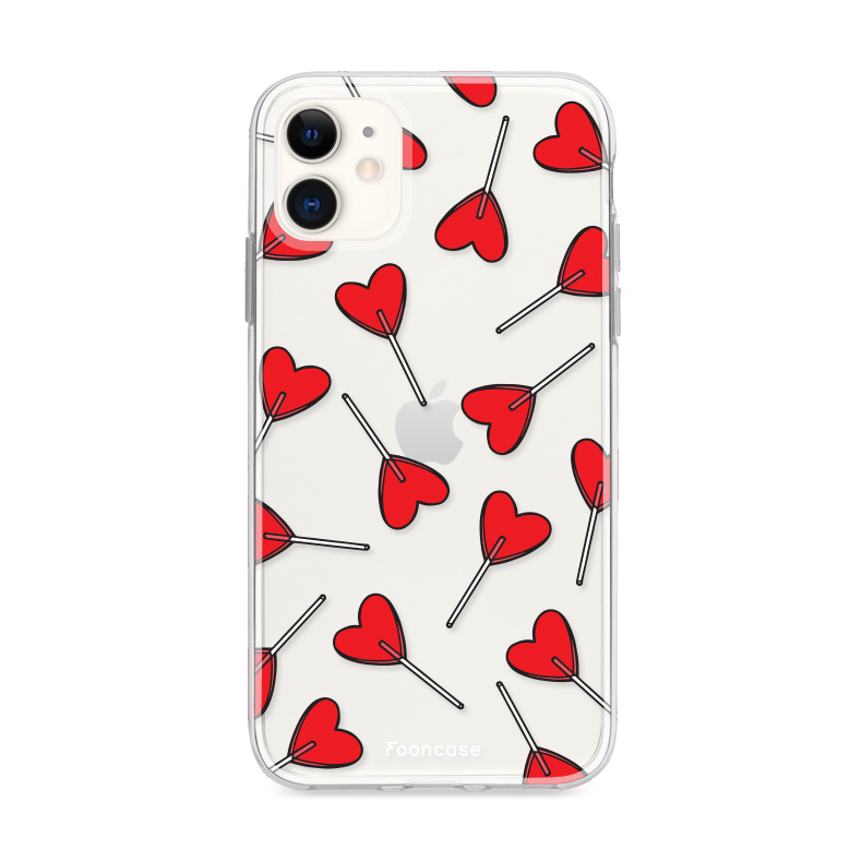 FOONCASE iPhone 11 hoesje TPU Soft Case - Back Cover - Love Pop