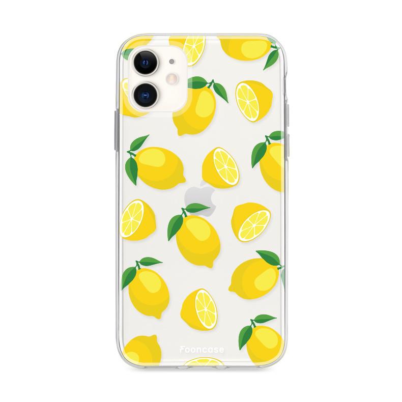FOONCASE iPhone 11 hoesje TPU Soft Case - Back Cover - Lemons / Citroen / Citroentjes