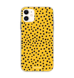 FOONCASE Iphone 11 - POLKA COLLECTION / Oker Geel