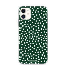 FOONCASE Iphone 11 - POLKA COLLECTION / Donker Groen