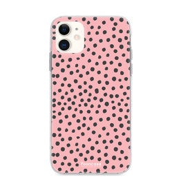 FOONCASE Iphone 11 - POLKA COLLECTION / Roze