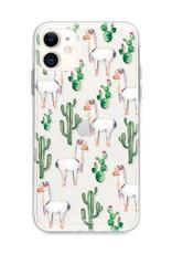FOONCASE iPhone 11 hoesje TPU Soft Case - Back Cover - Alpaca / Lama
