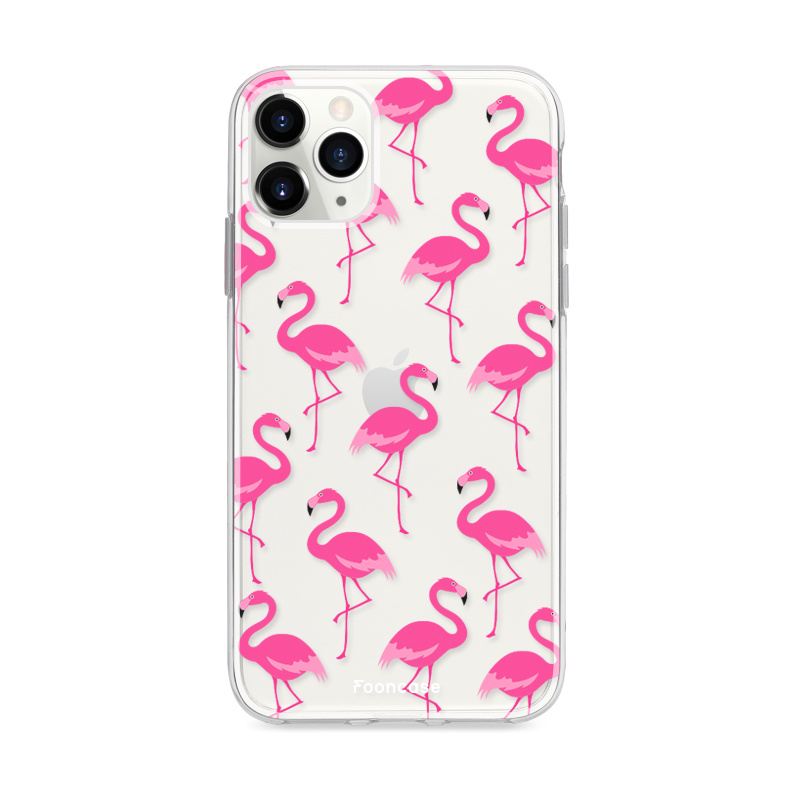 FOONCASE iPhone 11 Pro Max hoesje TPU Soft Case - Back Cover - Flamingo