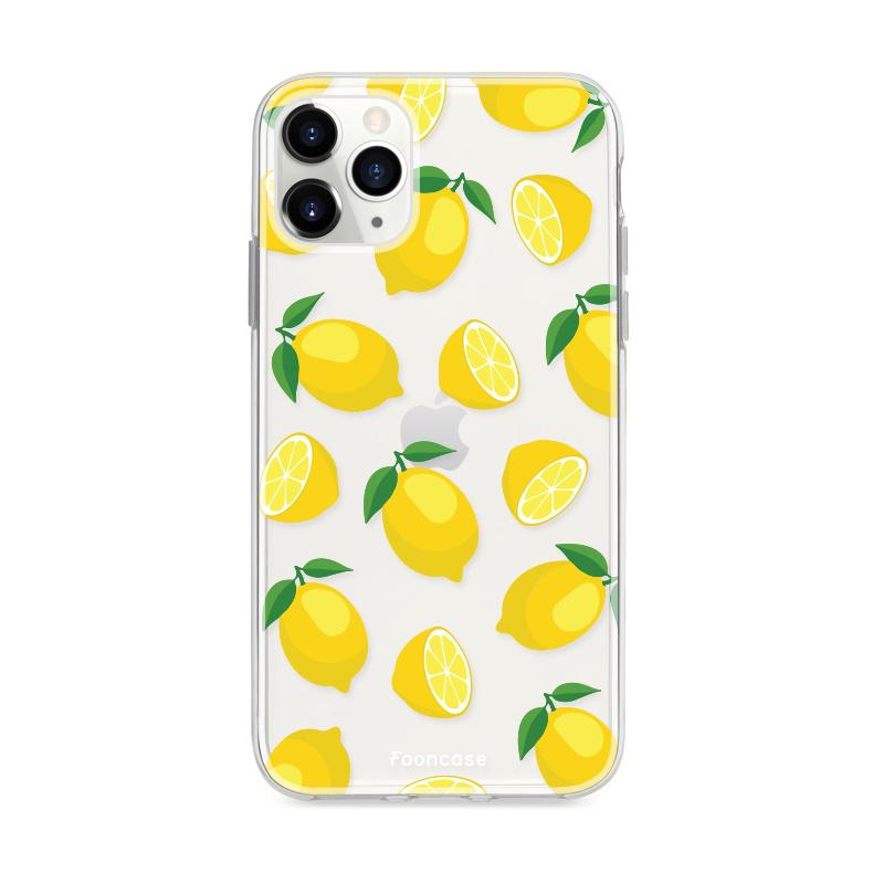 FOONCASE iPhone 11 Pro Max hoesje TPU Soft Case - Back Cover - Lemons / Citroen / Citroentjes